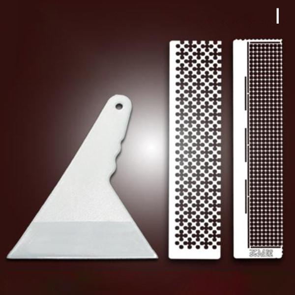 Rostfritt stål diamantmålat nätlinjal DIY broderi åtkomst