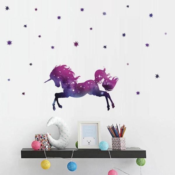Unicorn DIY hem dekal med romantiska stjärnor Wall Sticker Removab