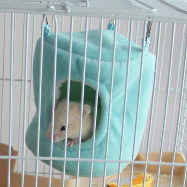warm hamster hammock hanging bed house rat syrian hamsters parr Green L
