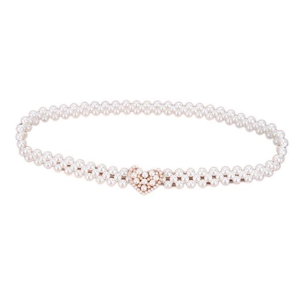 Kvinnor damer pärlor Crystal pärlor kedjebälte stretchig blomma Bu
