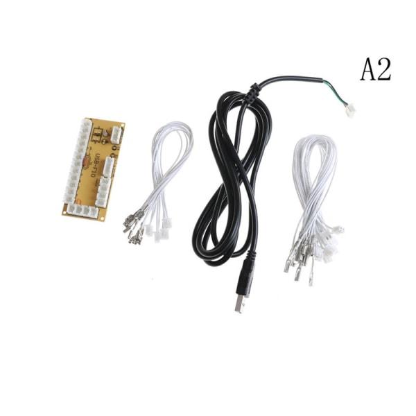 Zero Delay Arcade USB Encoder PC till Joystick Tryckknapp + Kablar