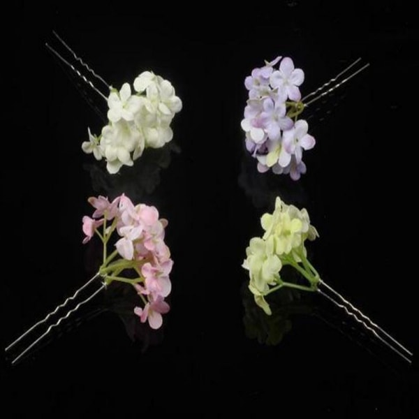 Blomma hårnål Bröllop 1 ST LILA