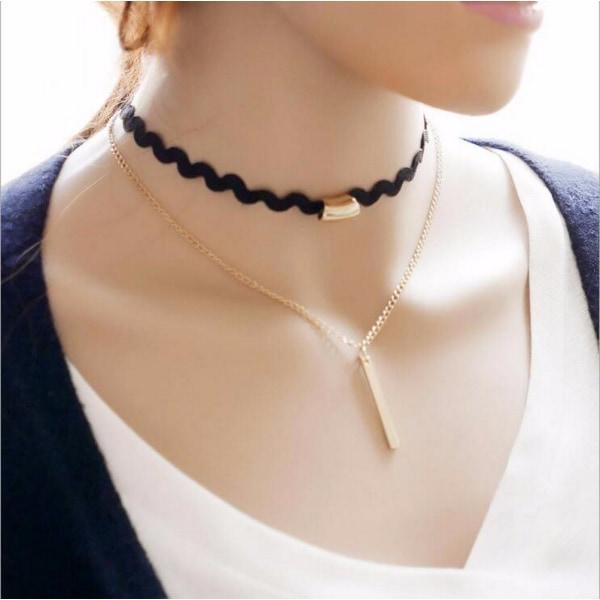 Gotisk spets retro halsband handgjorda Lace