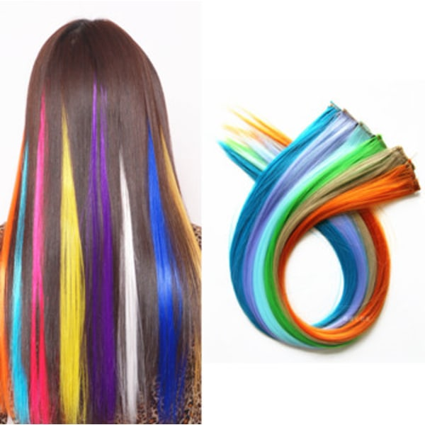 Håraccessoarer Flerfärgad neon rakt hår peruk  Grön