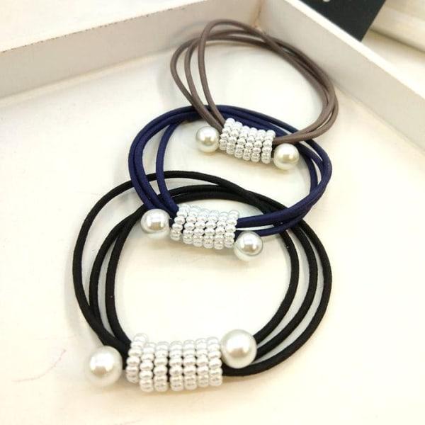 Pärla gummiband 1 ST svart