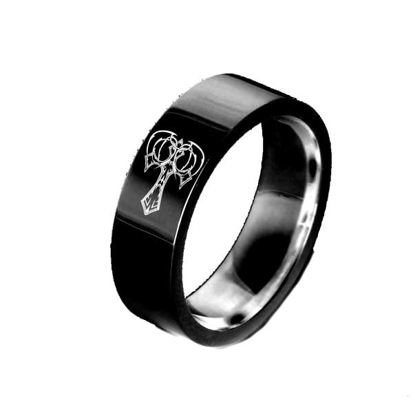 Rostfritt stål ring 6mm svart 21