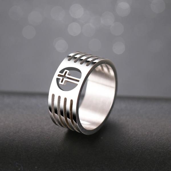Rostfritt stål ring GULD, SILVER silver 19