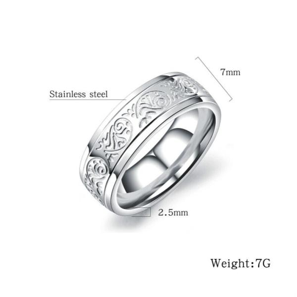 Rostfritt stål ring GULD 19