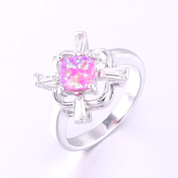 Silversmycken filled ring ROSA Brand Opal 16