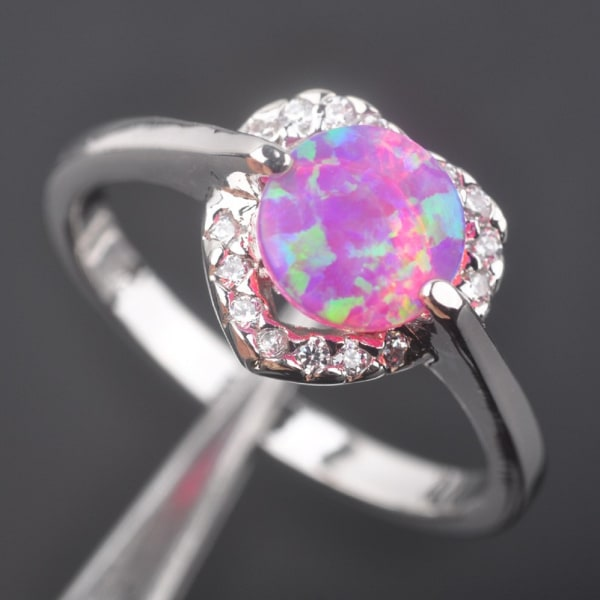 Silversmycken filled ring ROSA Brand Opal 17