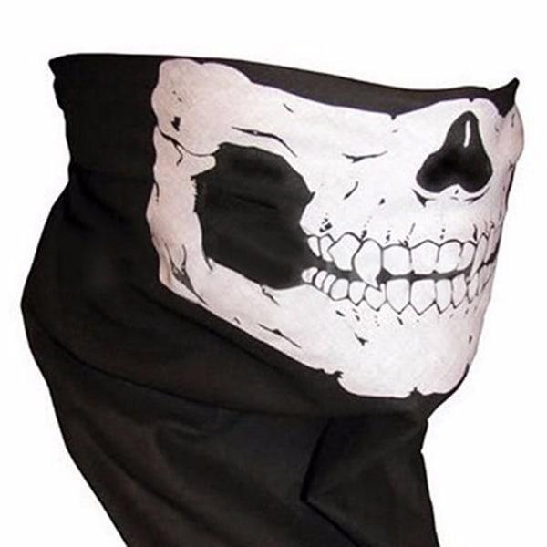 Skalle halsduk halv ansiktsmask
