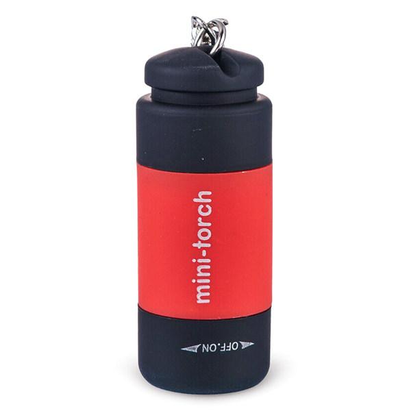 Mini LED USB-ficklampa Utomhus Camping Torch Nyckelringar Red