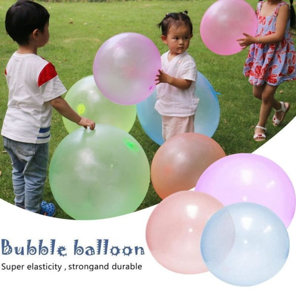 Uppblåsbar bubbla ballong-barn uppblåsbar boll utomhus leksak Pink 60-70cm