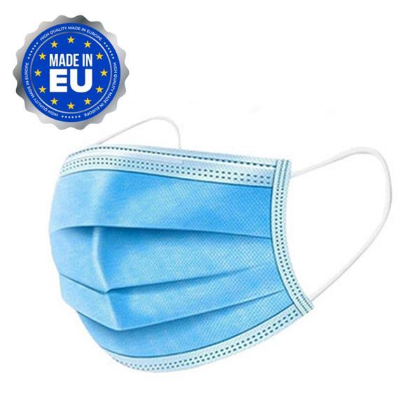 50 st Munskydd CE-godkänd Producerade i EU Blå