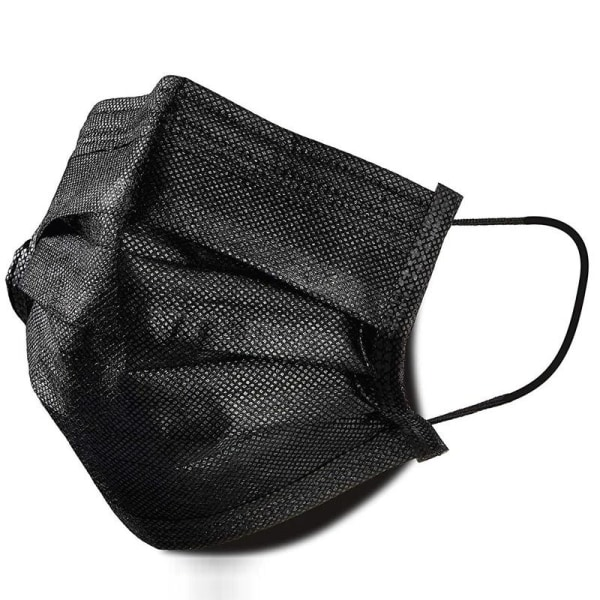 [50-PACK] Munskydd CE-godkända - Klass IIR - 3-Lager Svart