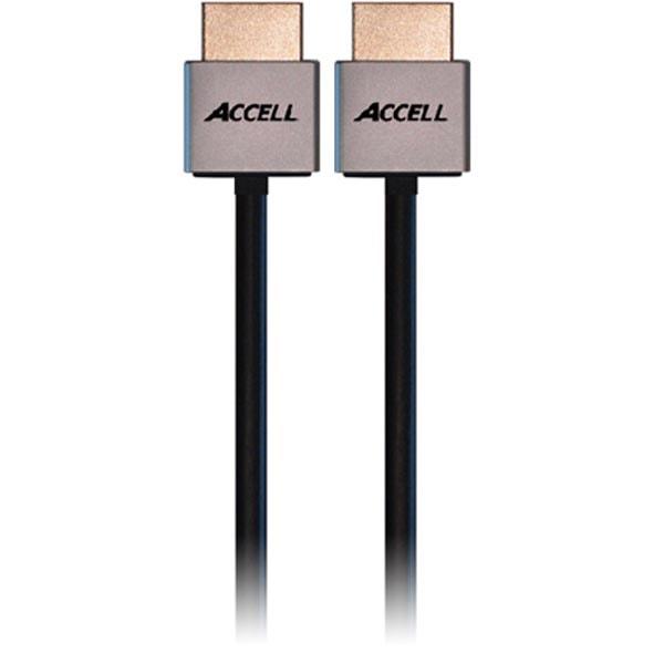 ACCELL ProULTRA Thin, HDMI-kabel, 1.4, ha-ha, 4K, 3D, 1m, svart