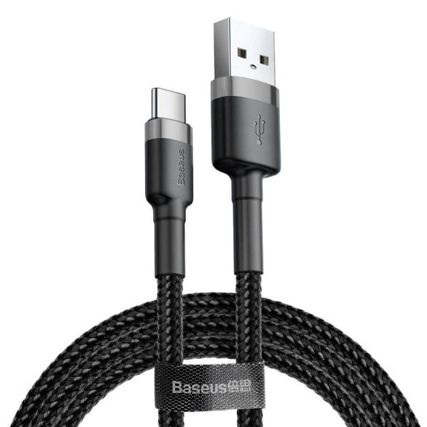 Baseus Cafule Type-C Cable 300 cm Grå / Svart