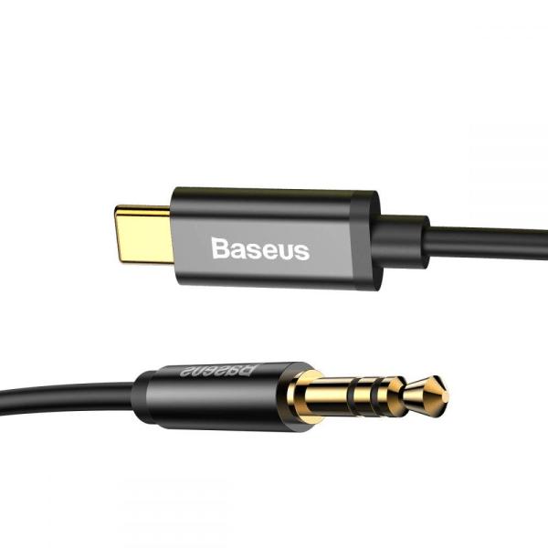 Baseus M01 Type-C To Aux Kabel 120 cm Svart