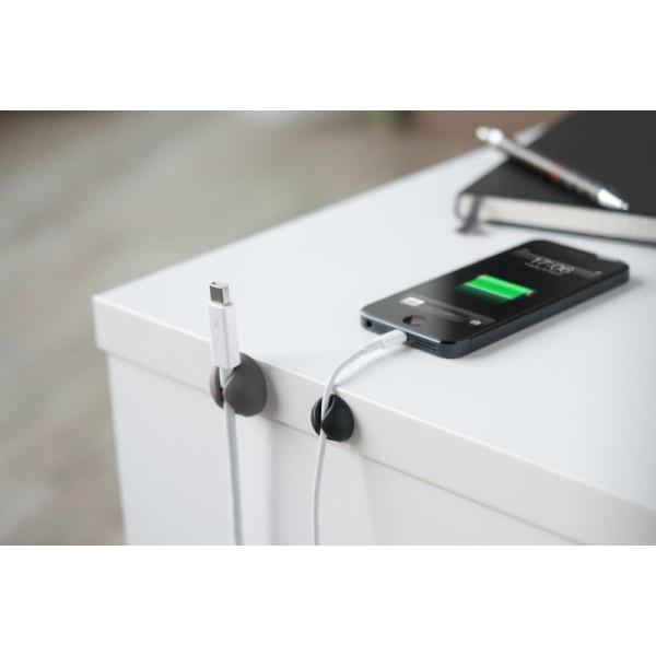 Bluelounge CableDrop Mini, Självhäftande hållare för sladdar, 9-