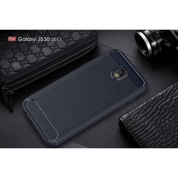 Carbon Brushed Skal till Samsung Galaxy J3 (2017) - Blå