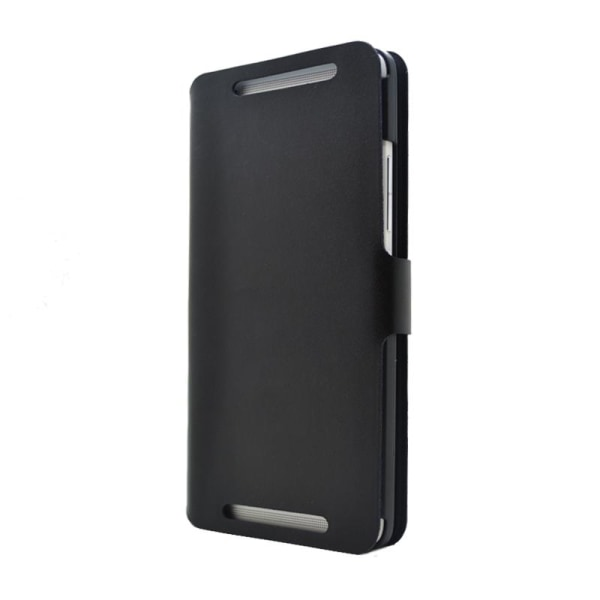 Doormoon Äkta Läder väska till HTC One Max (Svart)