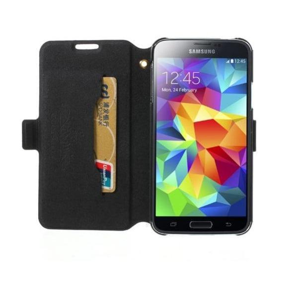 Doormoon Plånboksfodral till Samsung Galaxy S5 - Magenta