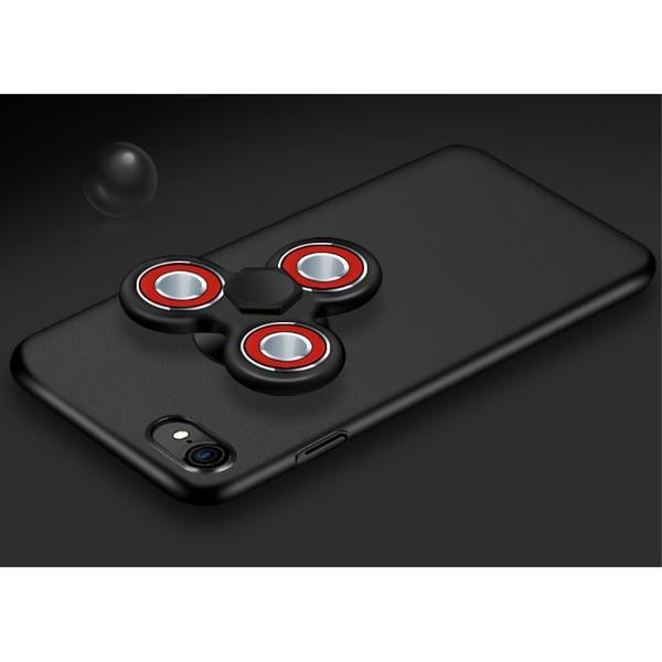 EDC Tri Fidget Spinner Skal till iPhone 7 Plus - Svart