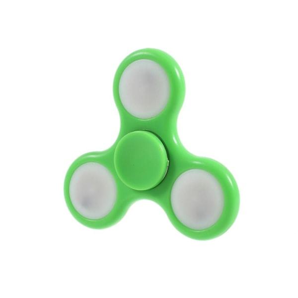 Fidget Tri-Spinner med LED Lampor - Grön