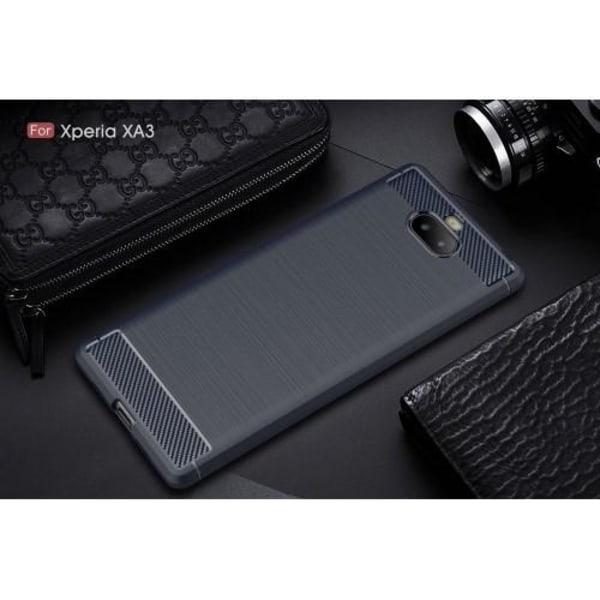 Kolfiberskal för Sony Xperia 10 - Mörkblå