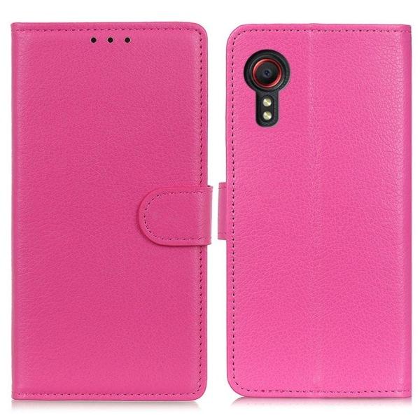 Litchi Plånboksfodral Samsung Galaxy XCover 5 - Rosa
