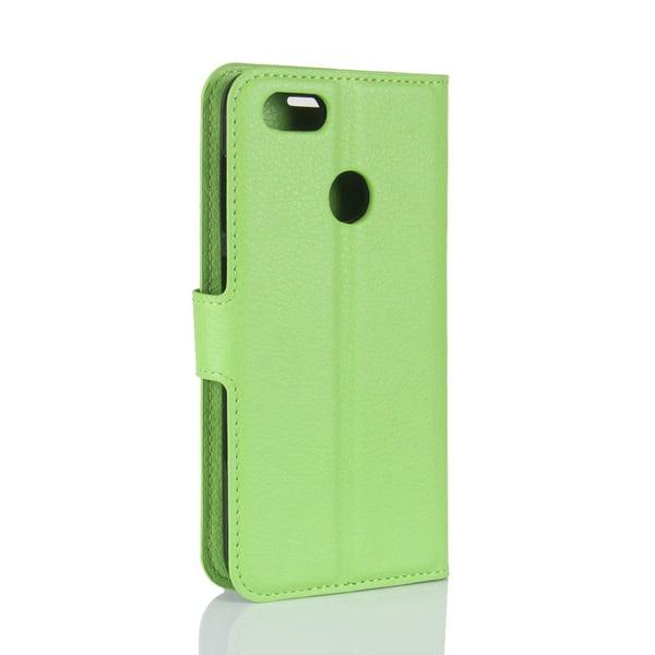 Litchi Plånboksfodral till Huawei P9 Lite Mini - Grön