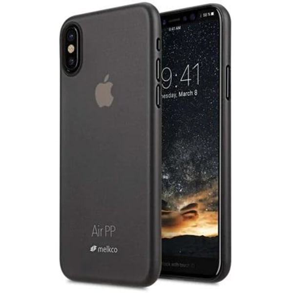 Melkco Air PP Mobilskal iPhone X/XS - Svart