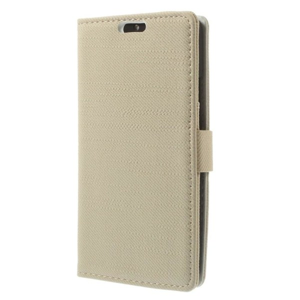 Plånboksfodral till Motorola Moto X2 - Beige