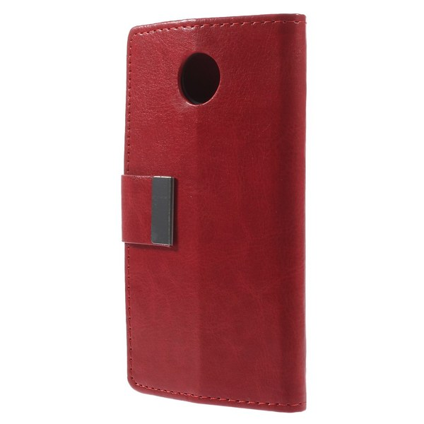 Plånboksfodral till Motorola Moto X2 - Röd