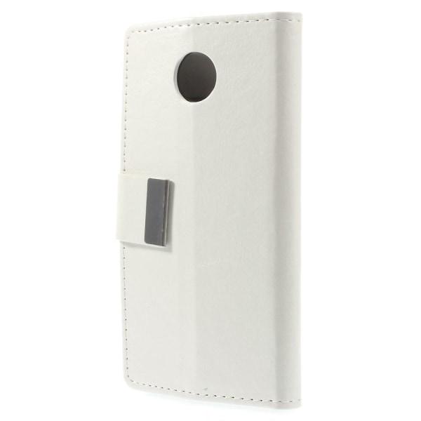 Plånboksfodral till Motorola Moto X2 - Vit