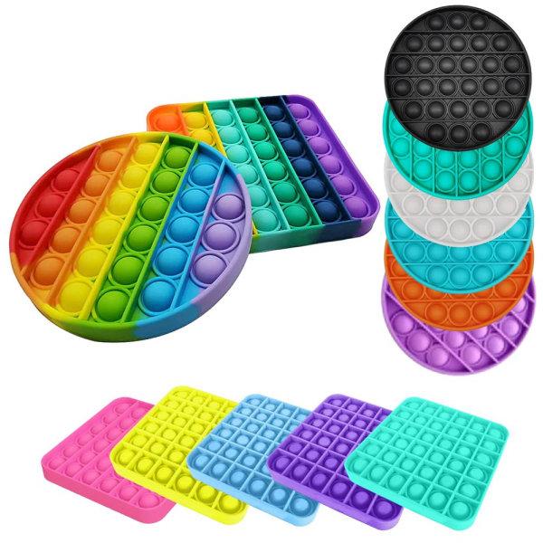 Pop it Fidget Sensory Leksak - Fyrkant - Gul (2 Pack) Fyrkant Gul (2 Pack)
