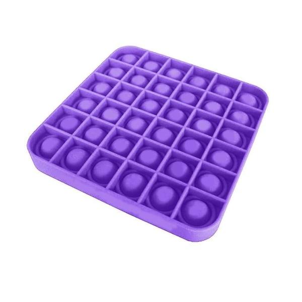 Pop it Fidget Sensory Leksak - Fyrkant - Lila (2 Pack) Fyrkant - Lila (2 Pack)