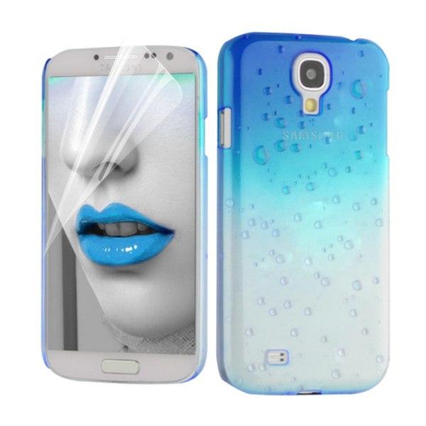 Raindrop Baksideskal till Samsung Galaxy S4 i9500 - (Ljus Blå)