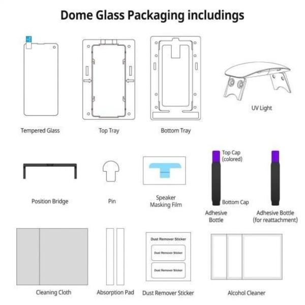 Whitestone Härdat Glas Dome Glass Galaxy S20 Plus Clear