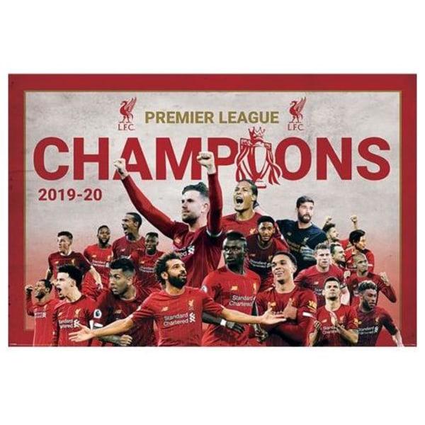 Liverpool Poster Premier League Champions Montage 11