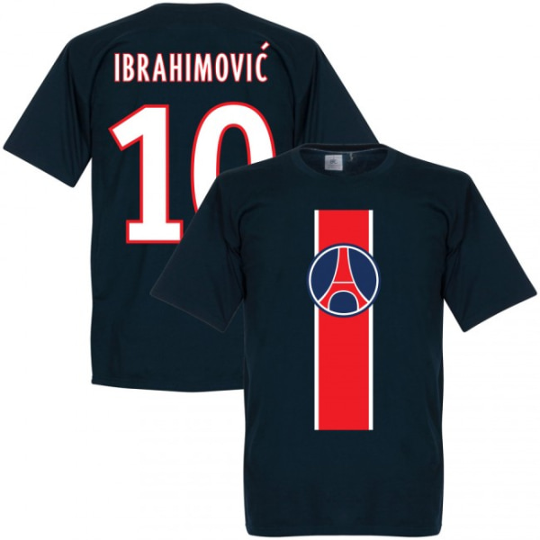 Paris St Germain T-shirt Ibrahimovic Mörkblå Barn 3-4 år