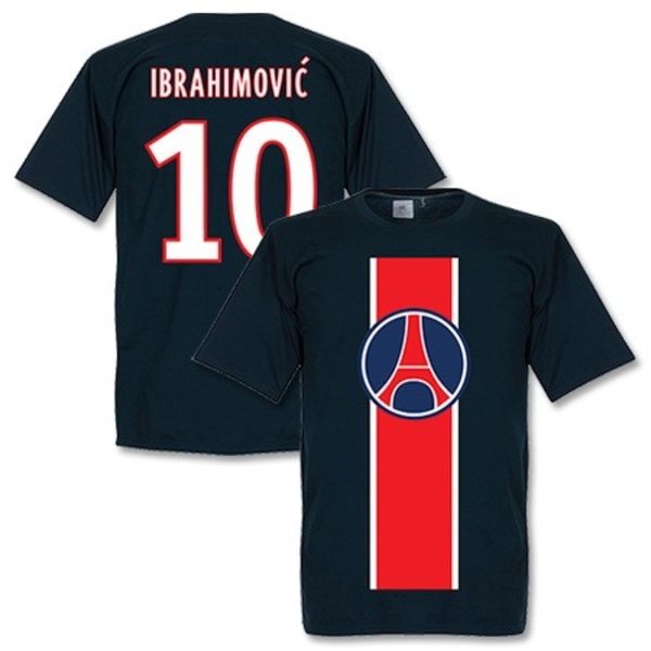 Paris St Germain T-shirt Ibrahimovic Mörkblå XL