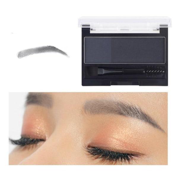 Dubbelfärgat ögonbrynspulver - professionell smink för B