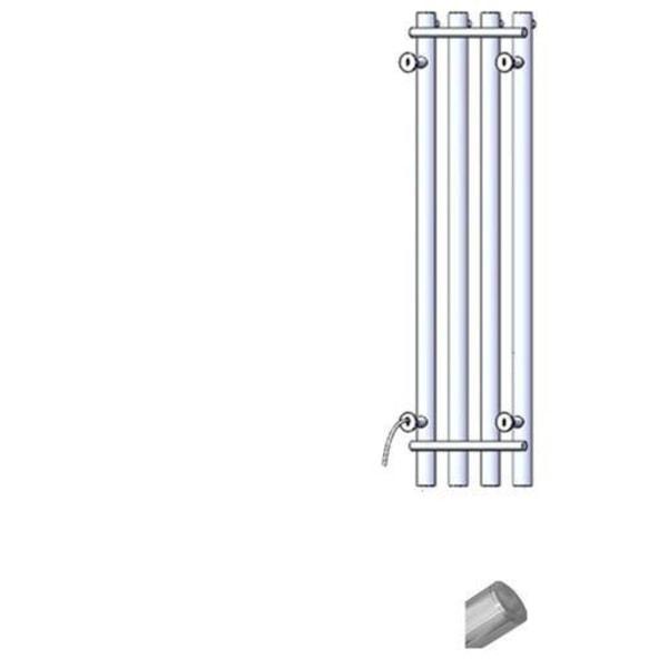 Handdukstorkare uppvärmd, handduksstång rostfritt stål 304 110V