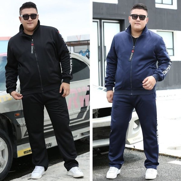 Herr löparpaket höst sportkläder sportdräkt tröja / Blue XL