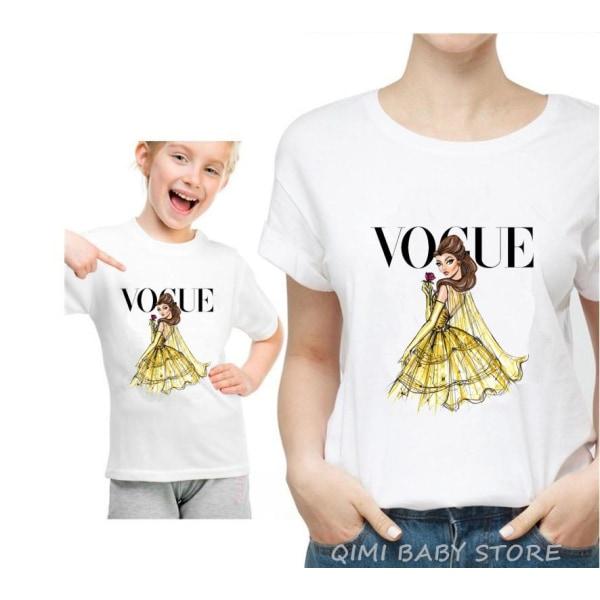 Mamma dotter matchar söta tshirts Mom Tshirt-L