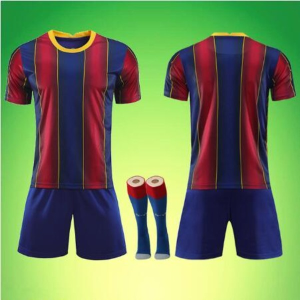 Manliga vuxna barn fotbollströja set, fotbollsmatch uniformer, LPhoto color-175