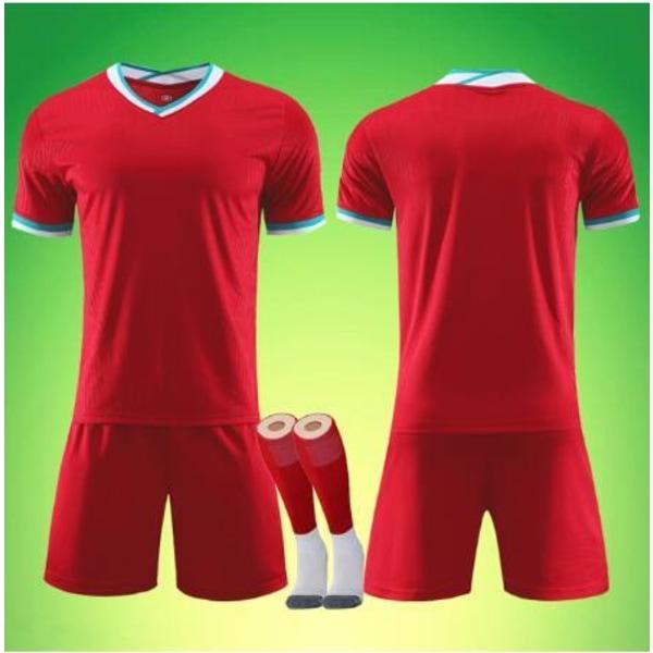 Manliga vuxna barn fotbollströja set, fotbollsmatch uniformer, XXLPhoto color-175