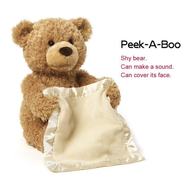 Peekaboo björn talar kommer att flytta nallebjörn elektrisk
