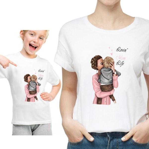 Roliga sommarfamilj matchande-kläder, vit t-shirt som matchar Mom-XLQZ0035-16